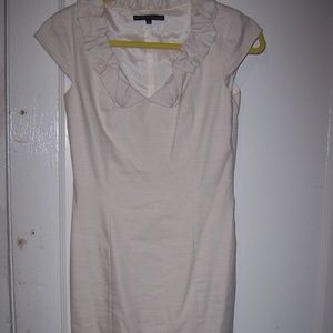 Womens Antonio Melani Cap Sleeve Dress 2 Linen